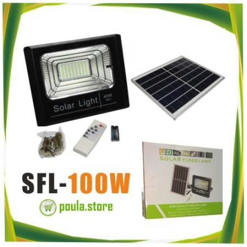 Ηλιακά φώτα φωτισμού υπαίθρια φώτα ασφάλειας LED IP66 αδιάβροχα 100W