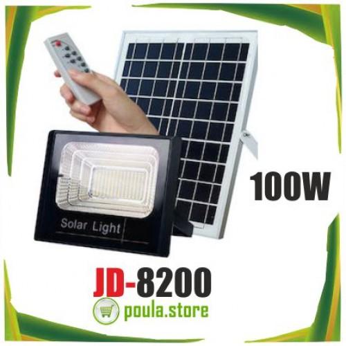 JD-8200 Ηλιακός Φωτοβολταικός Προβολέας Solar Light 100W