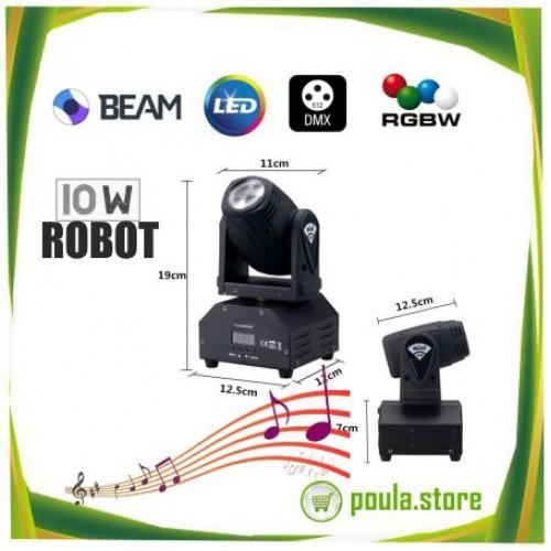 Ρομποτική κεφαλή LED BEAM 10W RGBW
