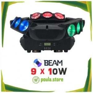 Spider Beam Led Head Moving 9 x 10W