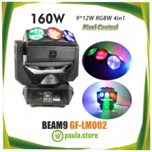 GF-LM002 Moving Head 9*12W RGBW 4in1 LED Beam