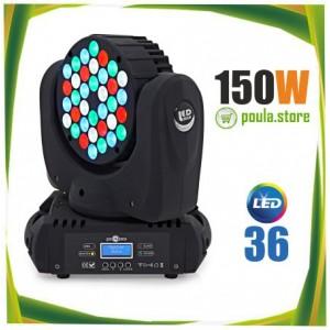 Επαγγελματική Κινούμενη Ρομποτική Κεφαλή BEAM RGBW 150W