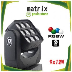 LED MATRIX MOVING HEAD 9×12 4IN1 RGBW
