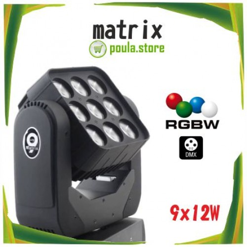 LED MATRIX MOVING HEAD 9×12 4IN1 RGBW
