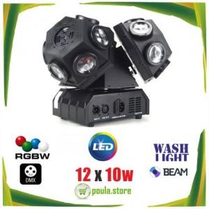 SMT-011 Double Robot Disco Light DMX 12x10W RGBW