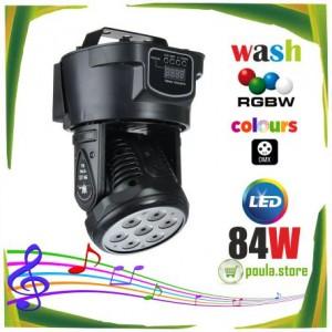 Ρομποτικές κεφαλές LED RGBW 84W DMX
