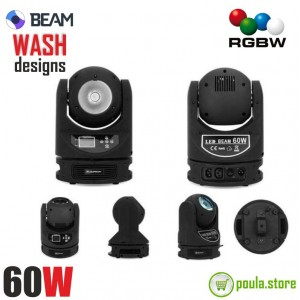 ROBOT LED BEAM 60W 360°