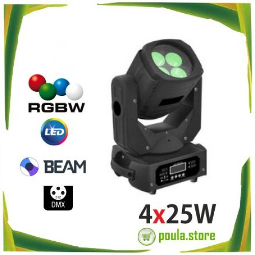 4x25W LED Ρομποτική κεφαλή Super Beam DJ stage light 4 Effect Light