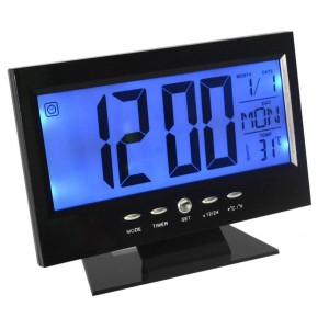 DS-8082 Ρολόι Με Ξυπνητήρι-Αισθητήρα Ήχου-LCD-Θερμοκρασία Back-Light