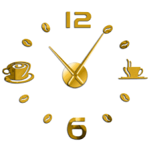 Ρολόι Αυτοκόλλητο Τοίχου Μοντέρνο Σχεδιασμός Διακοσμητικό Aσημί AL063-G