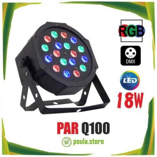 SPOT PAR Q-100 Προβολέας RGB LED 18x1W