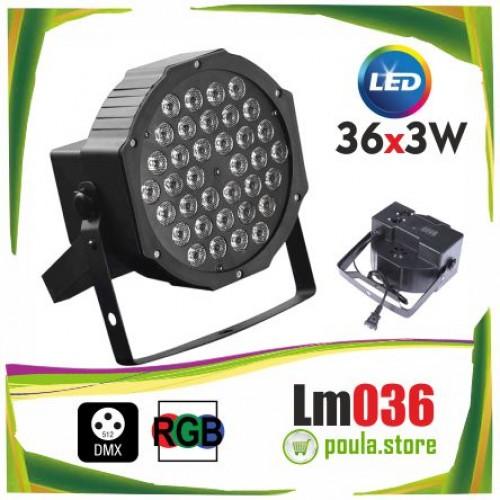 LM036 Dj Par Led RGB Audio DMX 36x3W