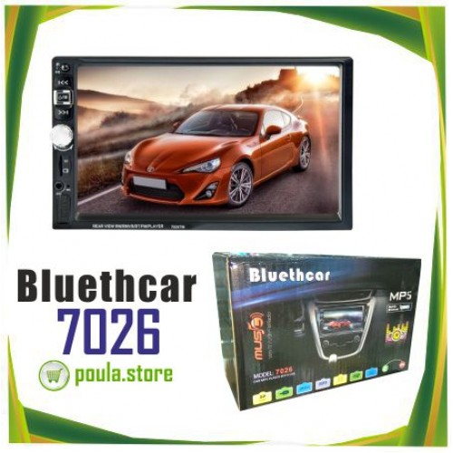 Bluethcar 7026 Car Stereo Radio Player Bluetooth 2 Din