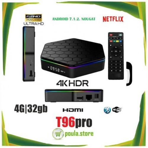 TV Box MEIQ-IT T96 PRO 4K Quad-core Android 8.1 RAM 4GB+ROM 32GB