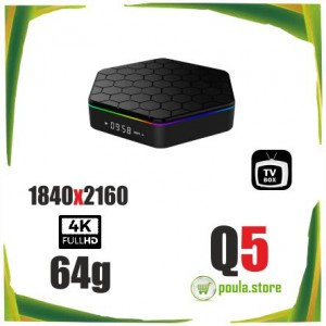 ANDOWL Q5 ANDROID TV BOX 4CORE RAM-4GB  ROM-64GB