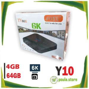 Y10 6K Ultra HD Smart Android TV BOX Android 9 64GB- 4GB SDRAM FOYU