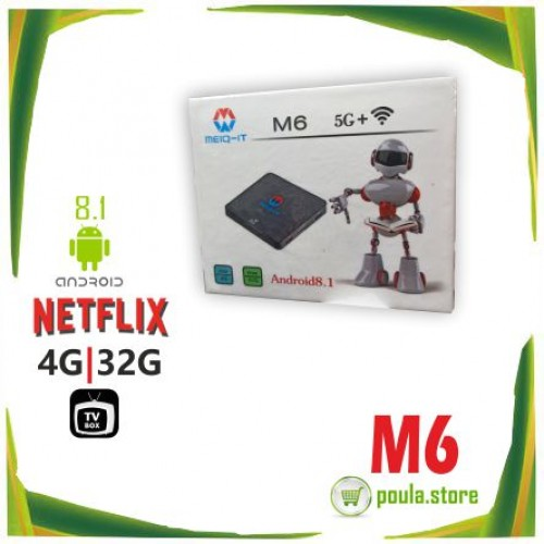 TV Box M6 5G Android 8.1 - 4G RAM 32G ROM WiFi