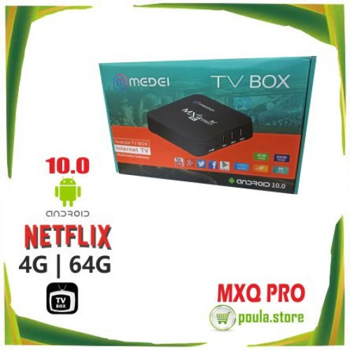 TV Box MEDEI MXQ PRO 5G Android 10.1 4G RAM /64G ROM WiFi 8K
