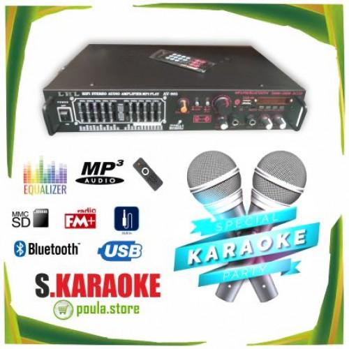 S.Karaoke Party Ενισχυτής 200W - 2 Μικρόφωνα